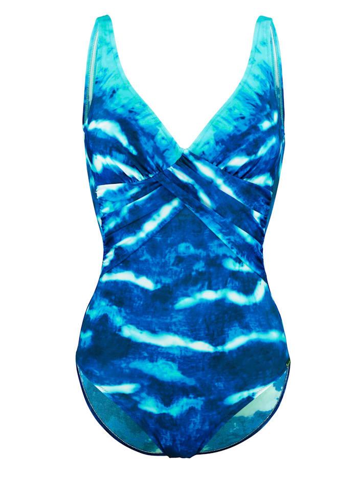 Charmline Badpak met shaping effect, Blauw