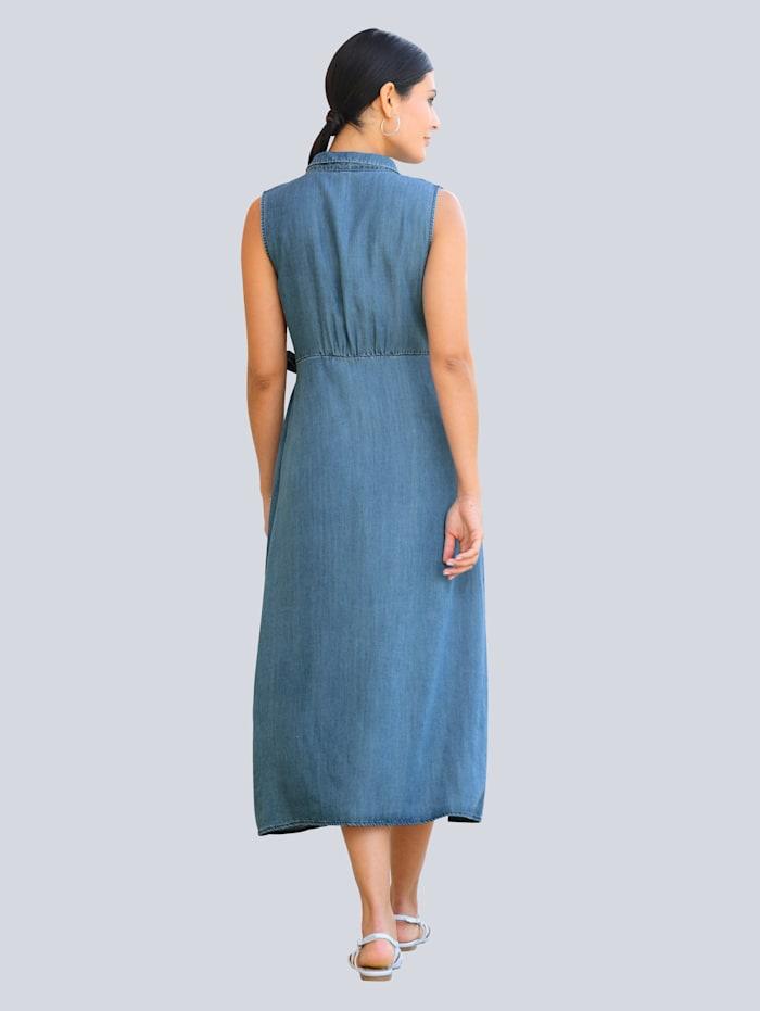 Kleid in Wickel-Optik