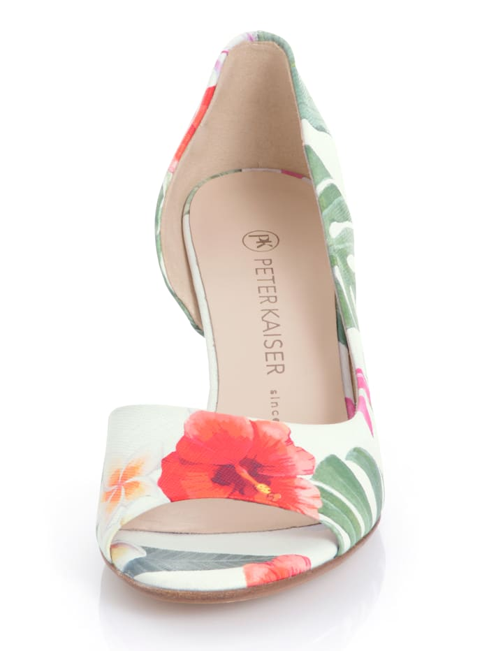 Pumps mit Blumen-Dessin allover