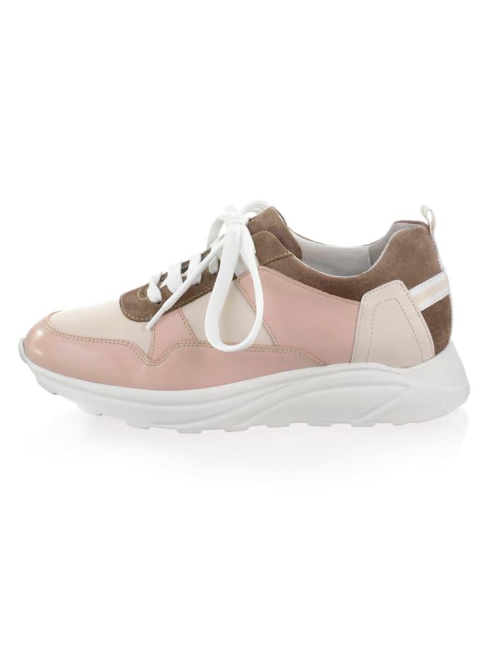 Alba Moda Sneaker in patchworklook, Nude/Beige