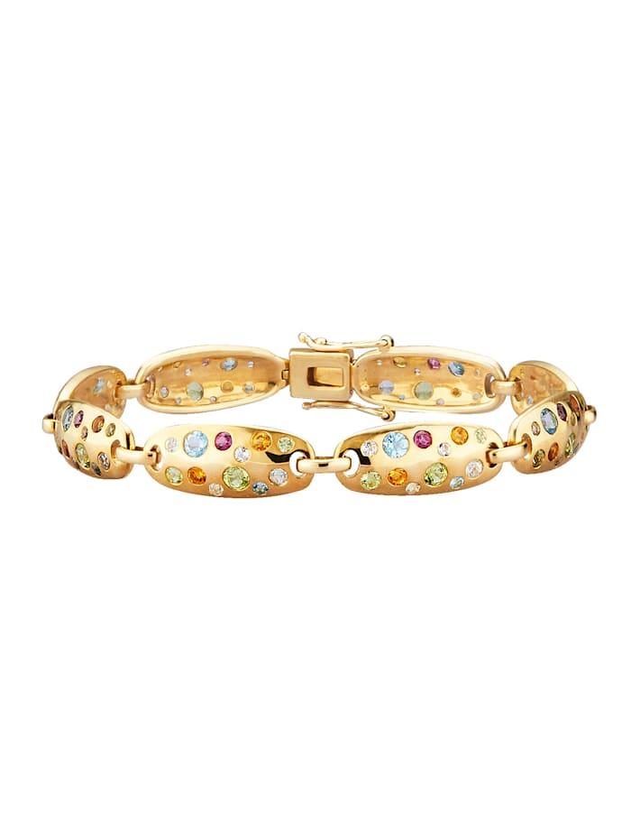 Armband mit Farbsteinen, Multicolor