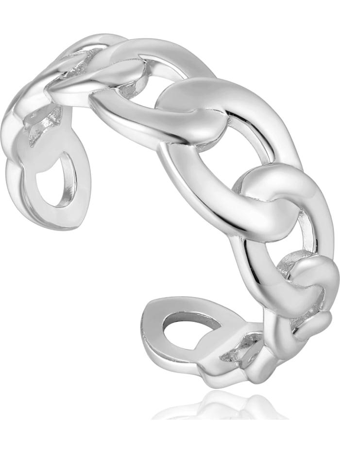 Ania Haie Ania Haie Damen-Damenring Curb Chain Adjustable Ring 925er Silber, silber