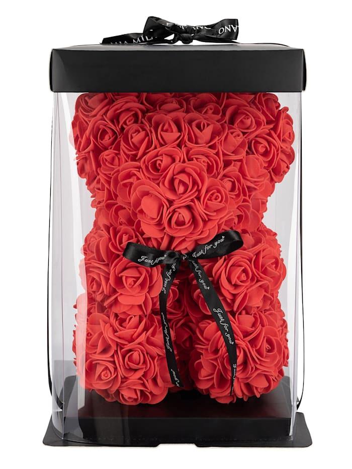 Rosengeschenkbox Teddybär aus Rosen