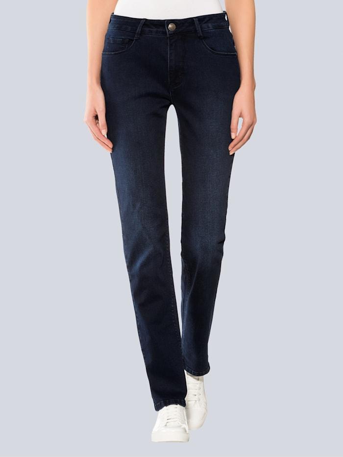 Alba Moda Jeans mit geradem Beinverlauf, Dunkelblau