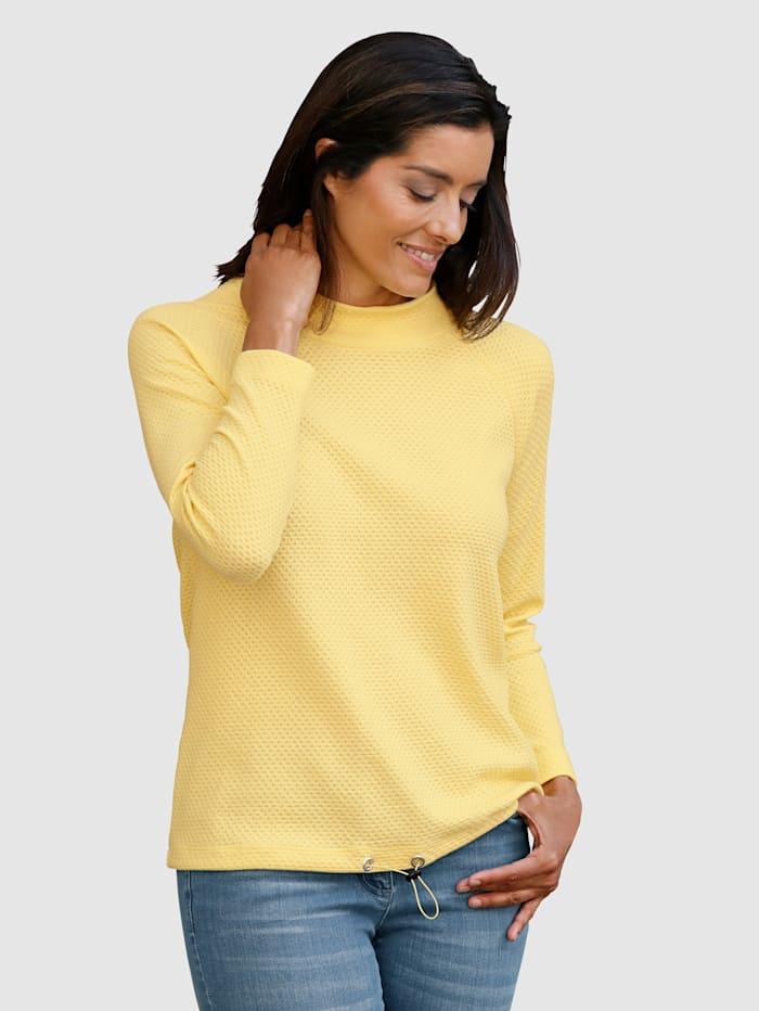 Laura Kent Sweatshirt van mooi structuurmateriaal, Zonnegeel