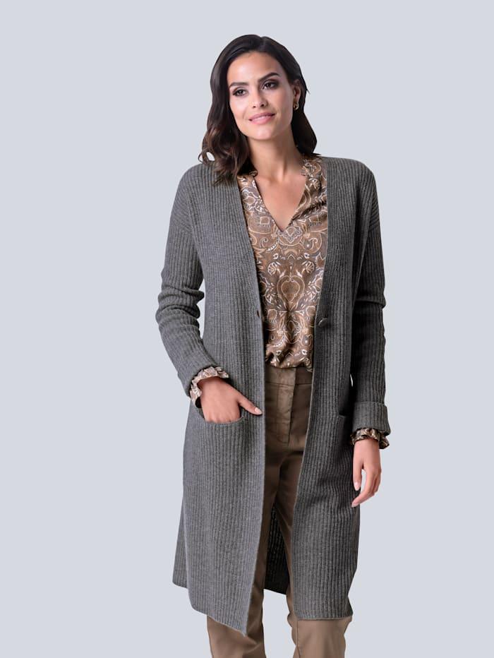 Alba Moda Strickjacke aus Kaschmir, Grau