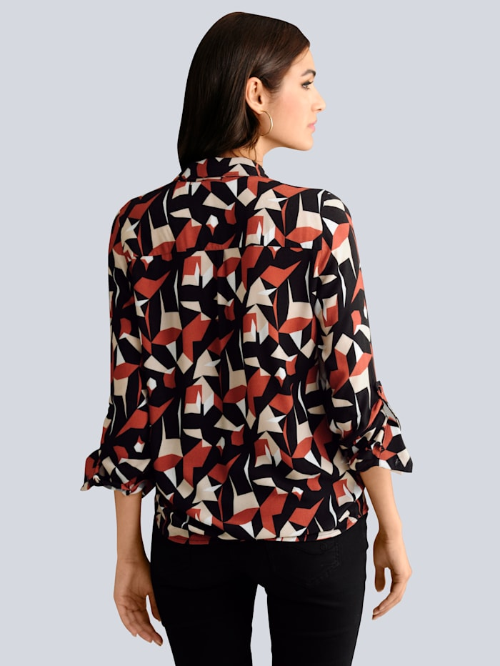 Bluse mit exklusivem Dessin von Alba Moda