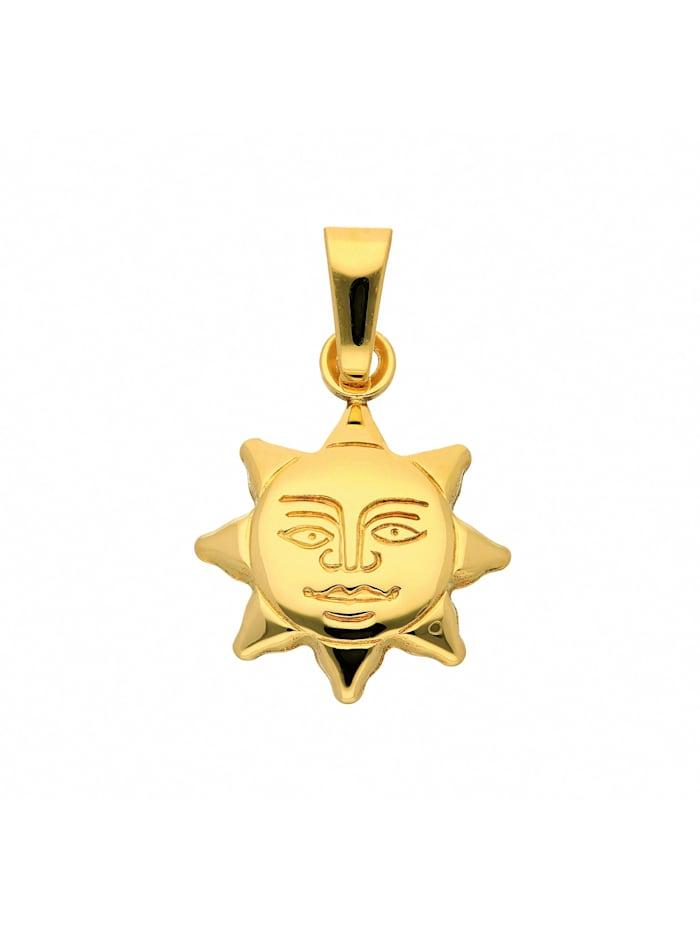1001 Diamonds Damen Goldschmuck 333 Gold Anhänger Sonne, gold