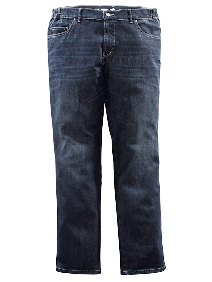 Men Plus Jeans Five-Pocket, Dark blue