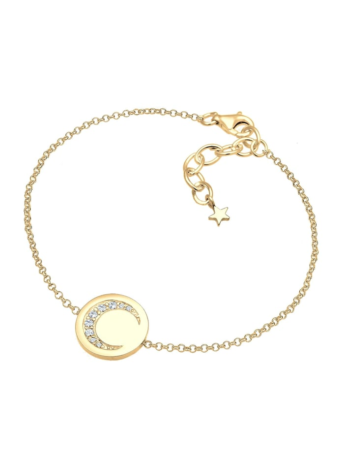 Armband Halbmond Astro Kristalle 925 Silber