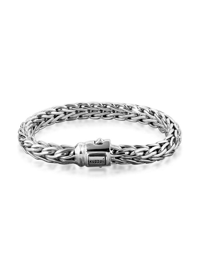 Kuzzoi Armband Herren Glieder Basic Kastenverschluss 925Er Silber, Silber