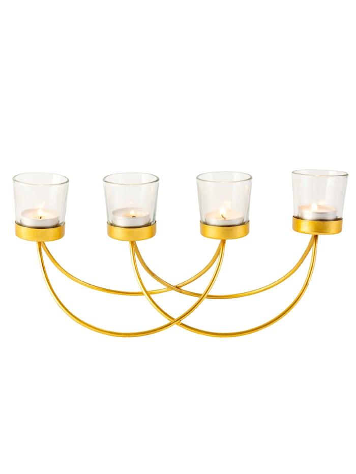 IMPRESSIONEN living Teelichthalter, Goldfarben