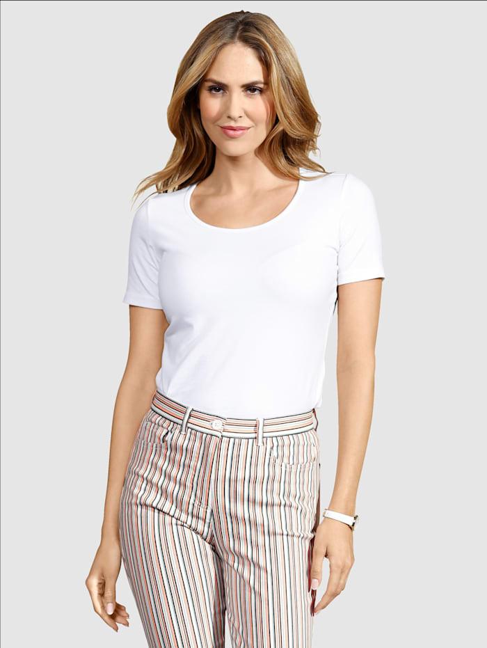 Dress In Shirt mit hohem Baumwollanteil, Weiß