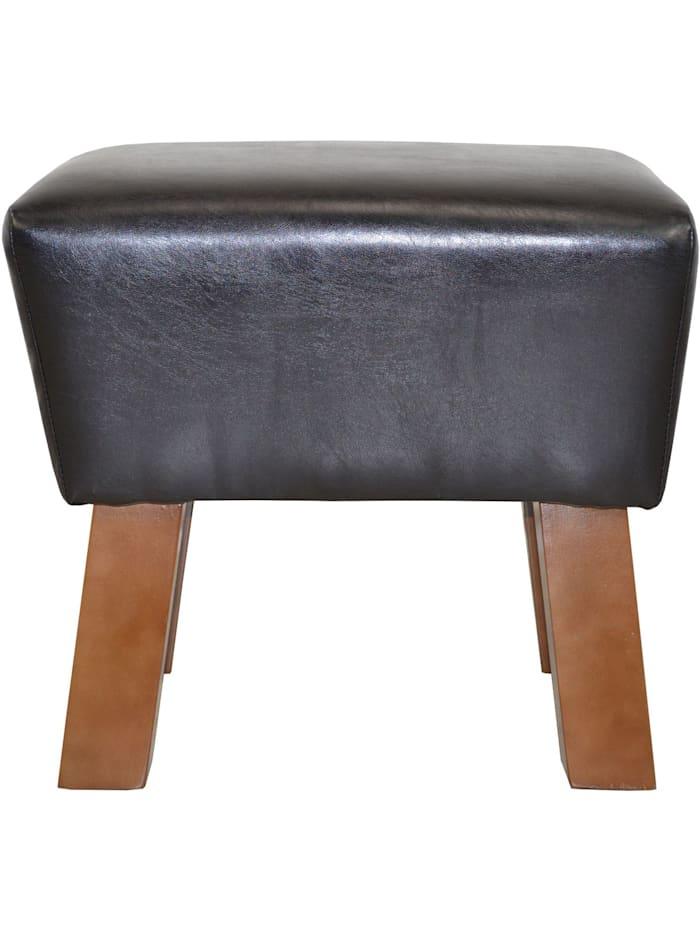 Möbel-Direkt-Online Sitzhocker Remus, schwarz