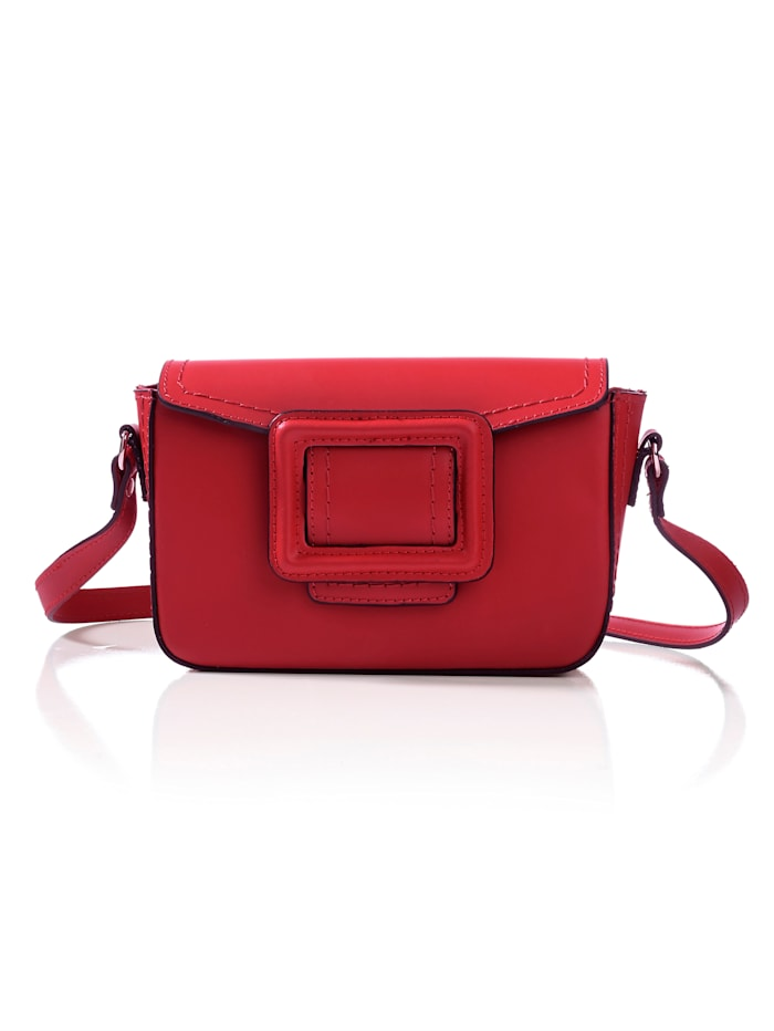 Collezione Alessandro Tasche aus Rindsleder, Rot