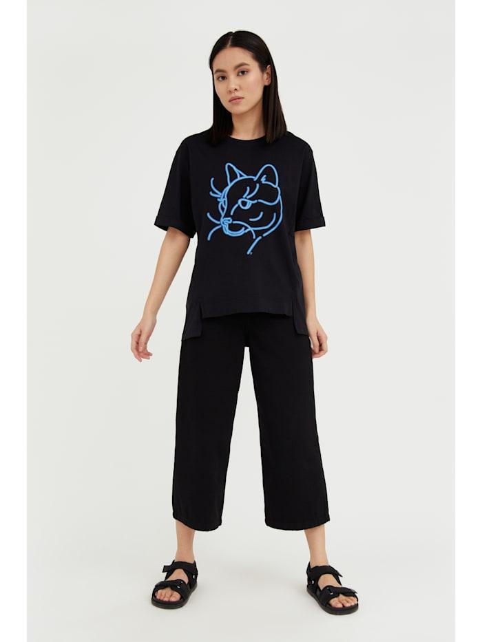 T-Shirt mit lockerer Schnittform