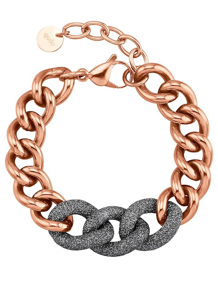 Qudo Armband mit grauen Zwischenelementen 173078, Rosé