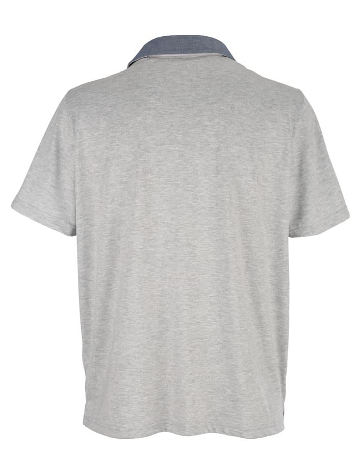 Poloshirt met geruit beleg