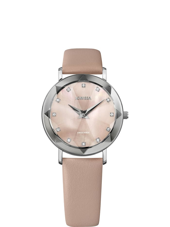 Jowissa Quarzuhr Facet Swiss Ladies Watch, rosa
