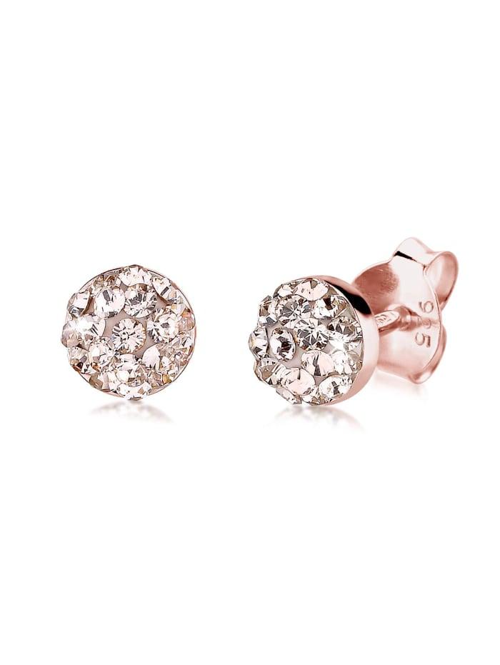 Elli Ohrringe Basic Kristalle Filigran 925 Silber, Rosa
