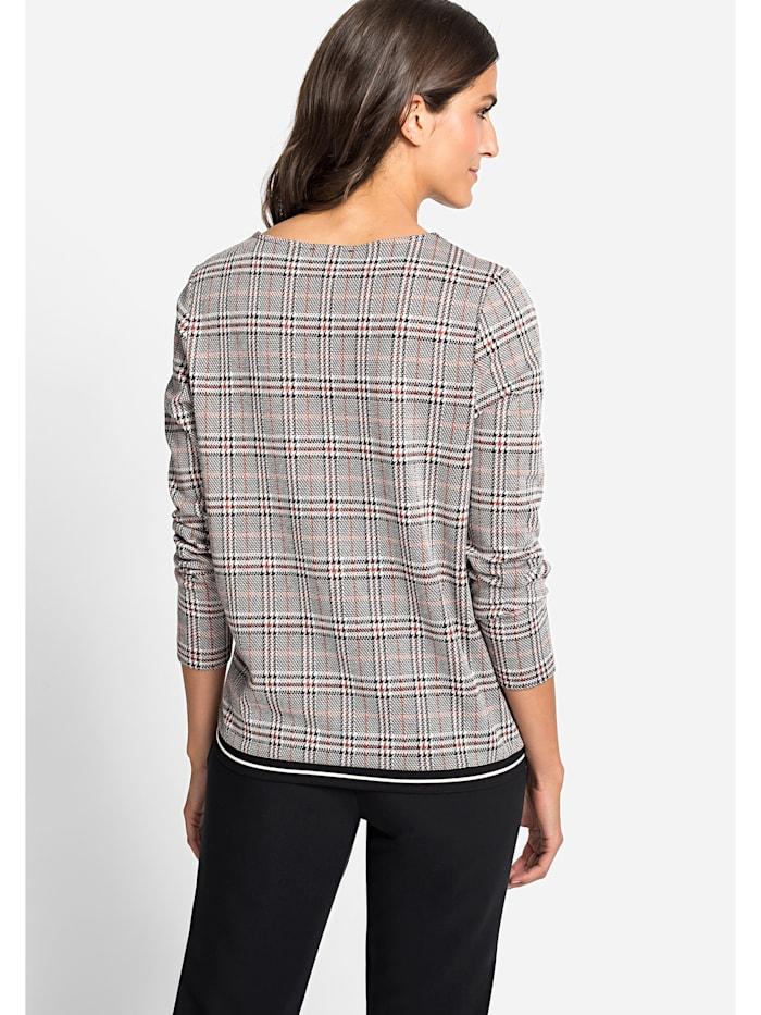 Sweatshirt mit Glencheck-Muster