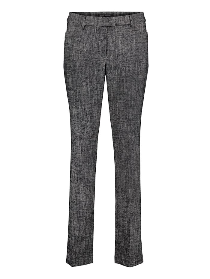 Betty Barclay Anzughose mit Bügelfalte, Schwarz/Weiß