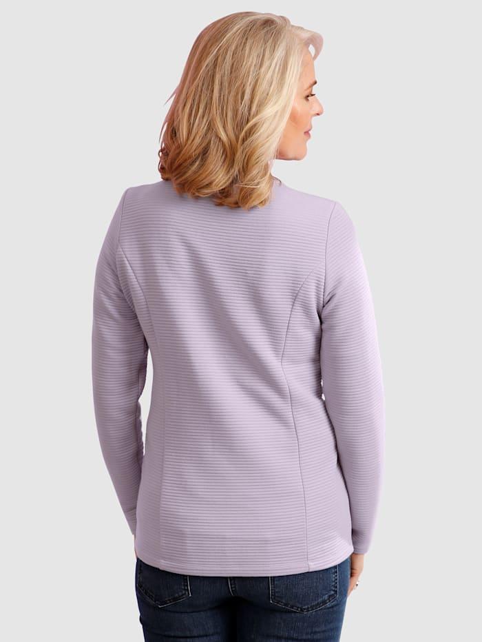 Tričkový kabátik so zapínaním na zips