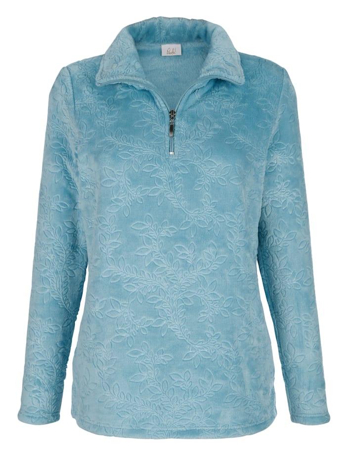 Paola Fleece trui met schipperskraag, Mint