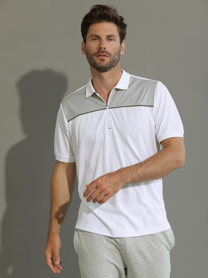 BABISTA Poloshirt met rits, Wit