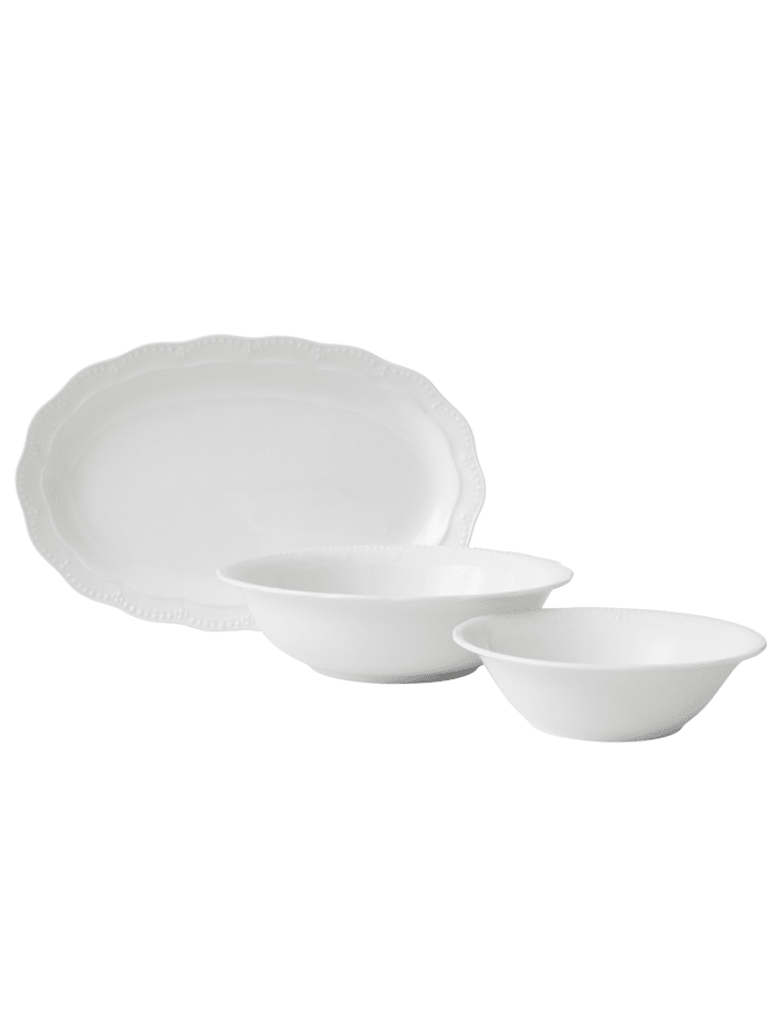 Creatable Set med uppläggningsfat och skålar – Gloria, vit
