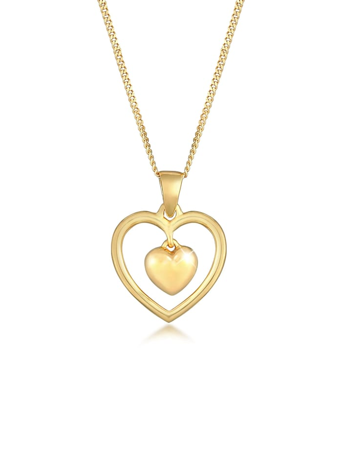 Nenalina Halskette Herz Liebe Love 925 Silber, Gold