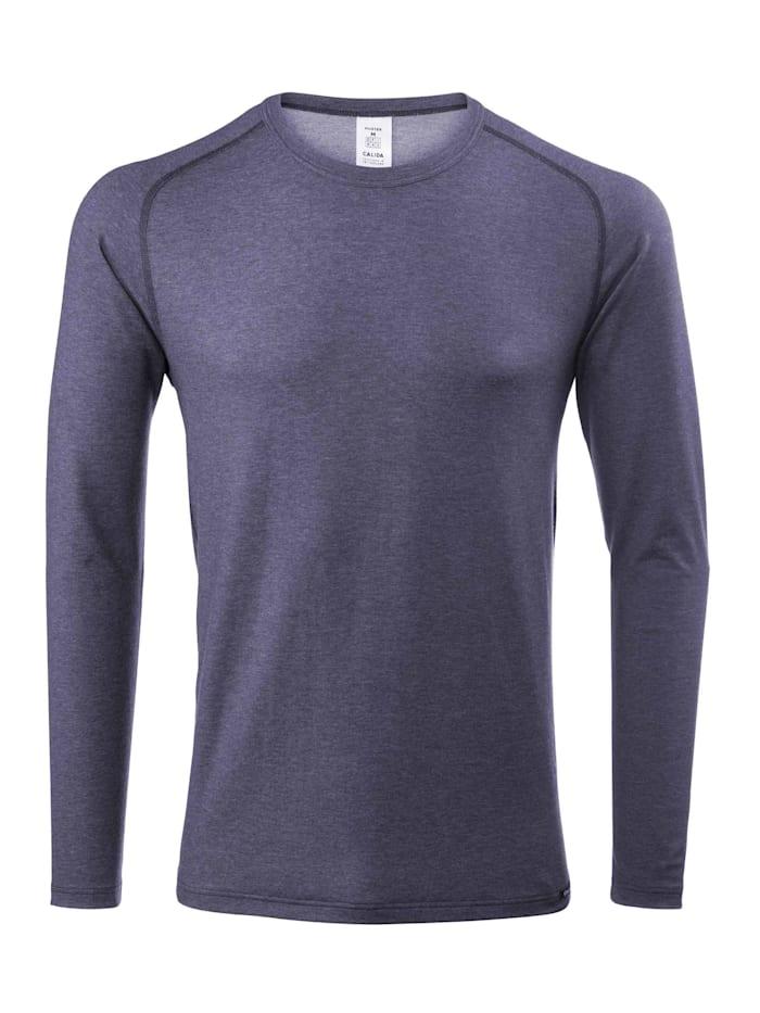 Calida Funktions-Langarm-Shirt STANDARD 100 by OEKO-TEX zertifiziert, Jeans Mele