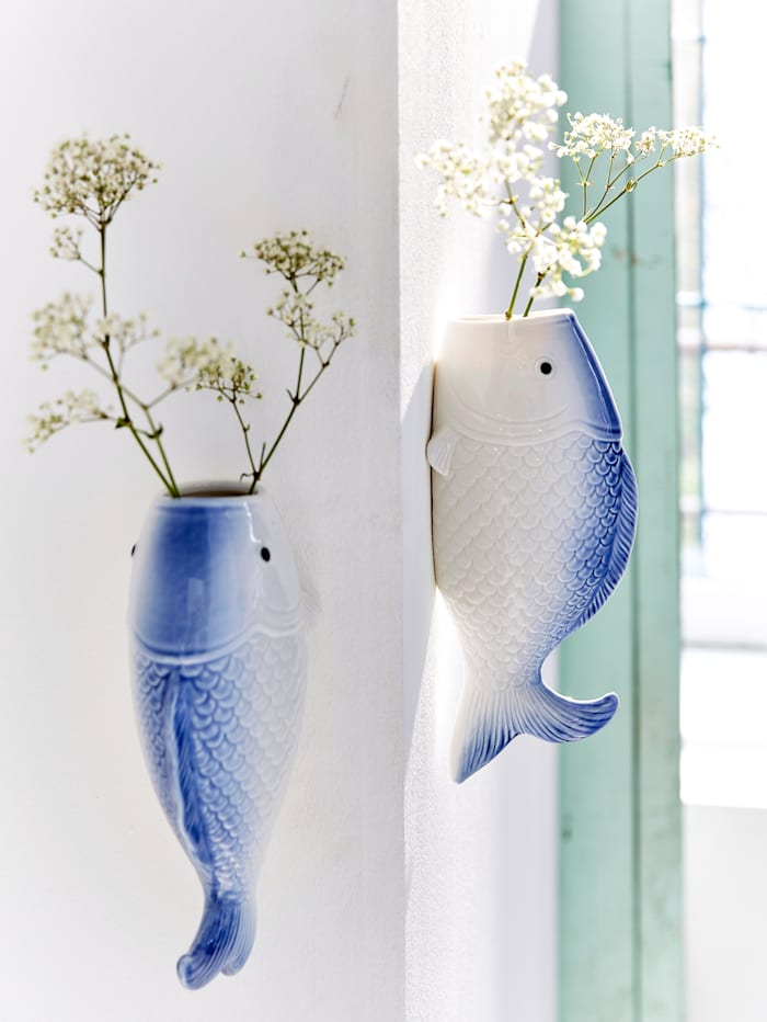 Wand-Vase, Fisch