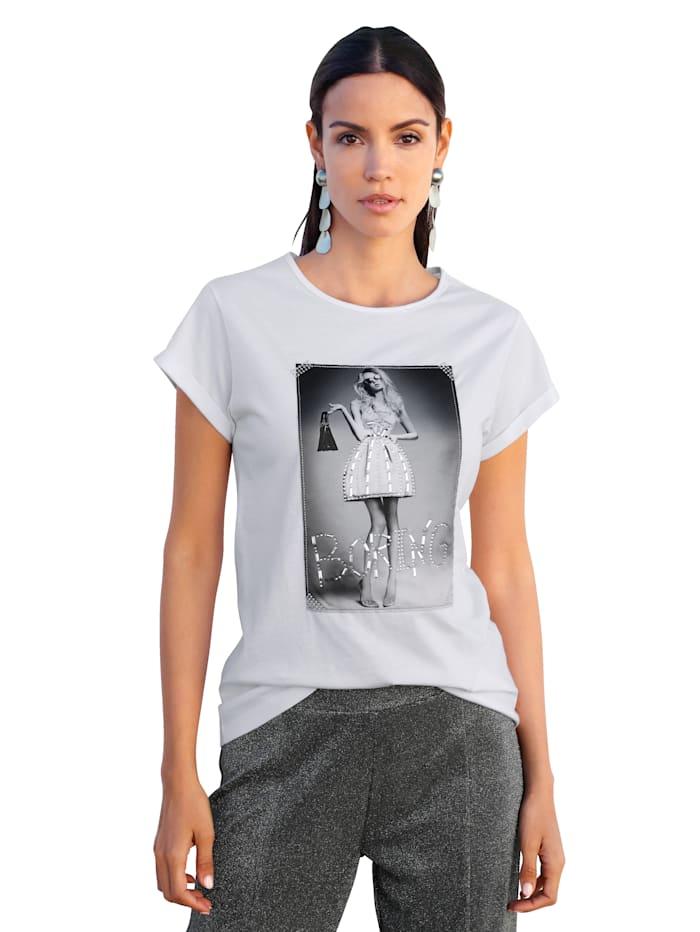 AMY VERMONT Shirt mit Druck im Vorderteil, Weiß