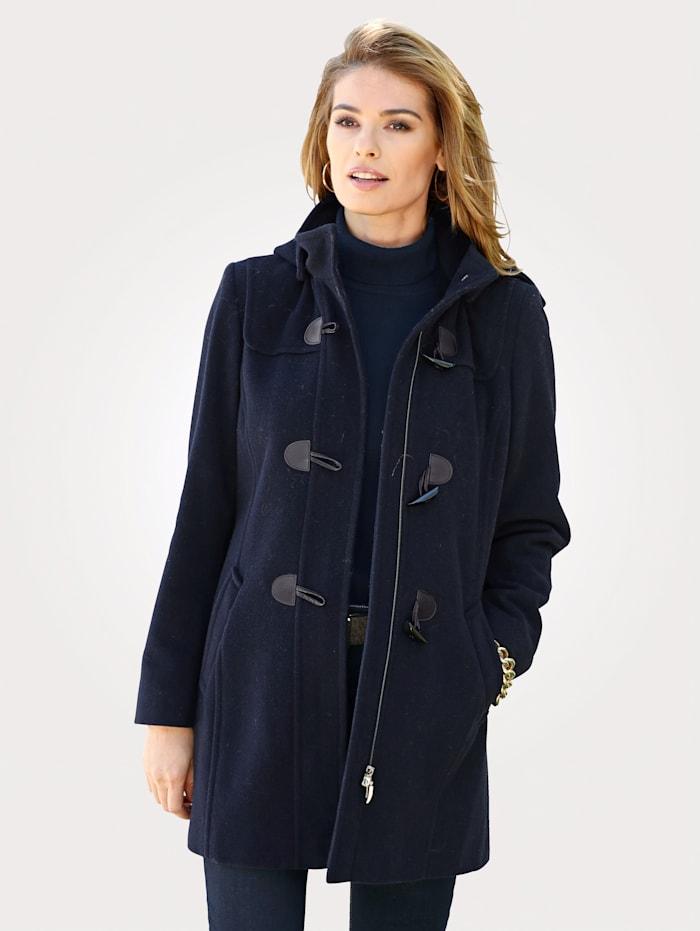 Duffle coat with a handy hood
