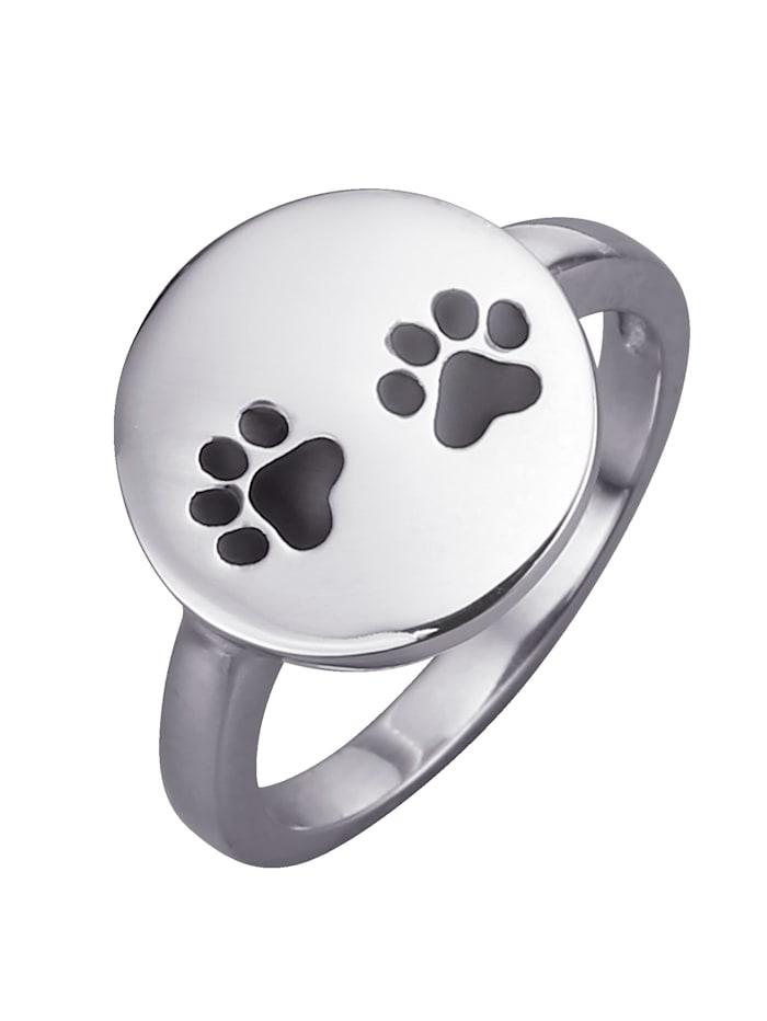KLiNGEL Pfoten-Ring, Silberfarben