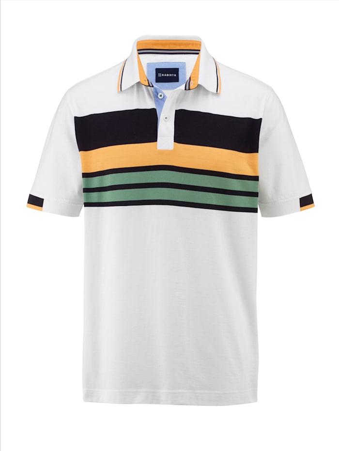 BABISTA Poloshirt mit Streifendessin rundum, Weiß