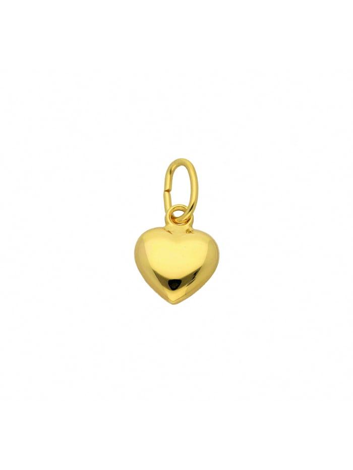 1001 Diamonds Damen Goldschmuck 585 Gold Anhänger Herz, gold