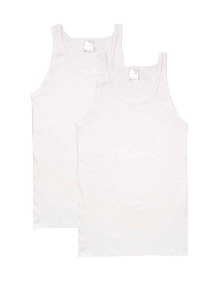 Schiesser Shirt ohne Arm 2-Pack, Weiß
