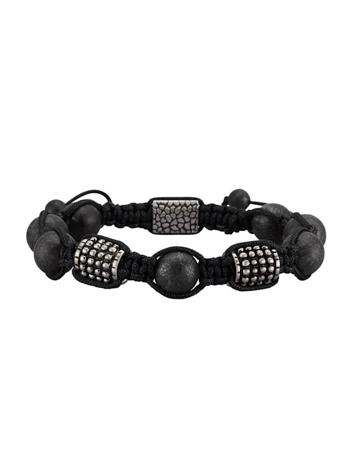 Bracelet avec lave et acier inoxydable