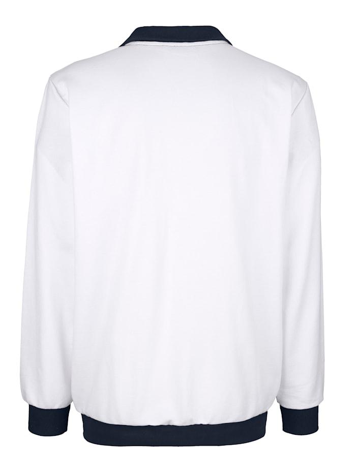 Sweatshirtjacka med kontraster fram