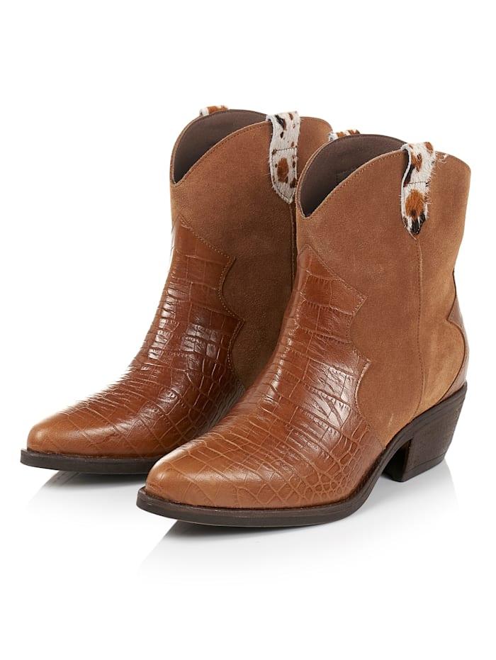 SIENNA Cowboy Boots, Cognac