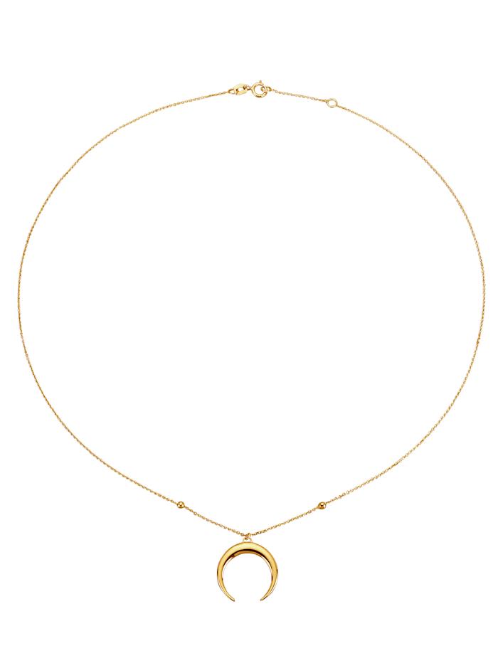 KLiNGEL Mond-Collier in Gelbgold 375, Gelb