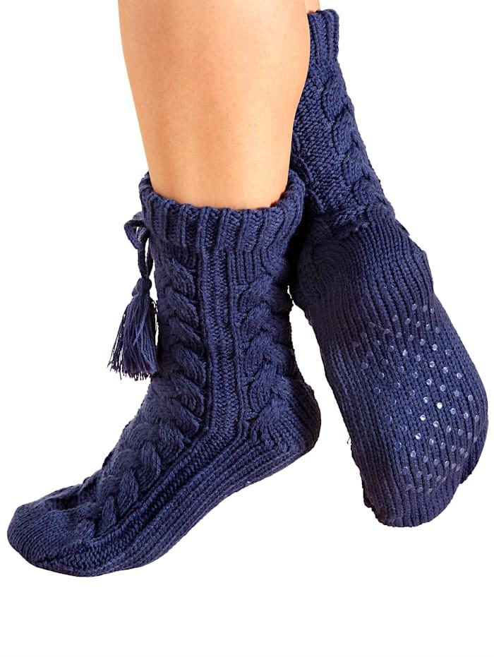 GHZ Socquettes d'intérieur, Bleu