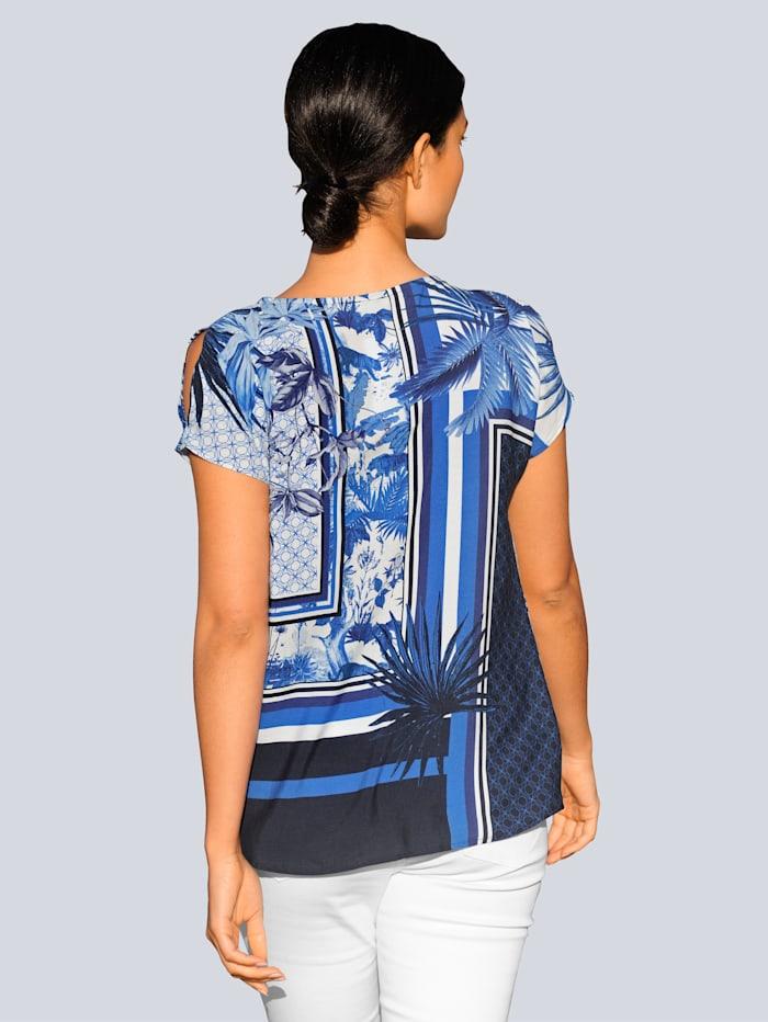 Topp med mönster som är exklusivt för Alba Moda