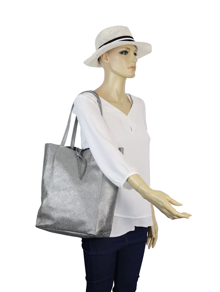 Shopper Fay mit geprägtem Material