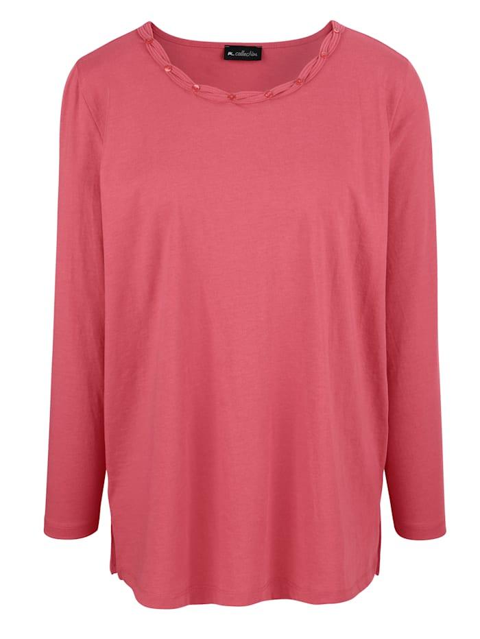 m. collection Shirt mit feinen Details, Koralle