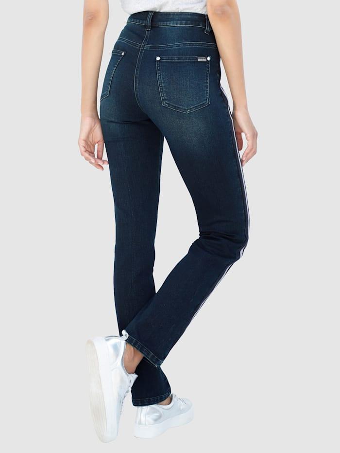 Jeans met opgestikte band