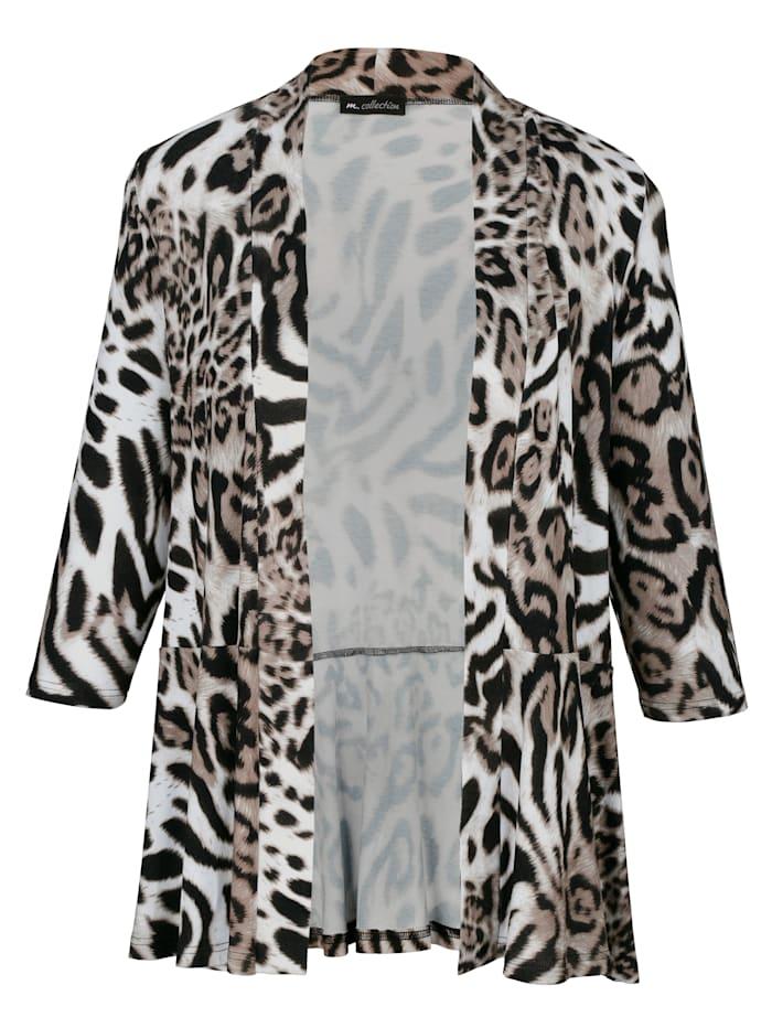 Tričkový kabátik s leo vzorom