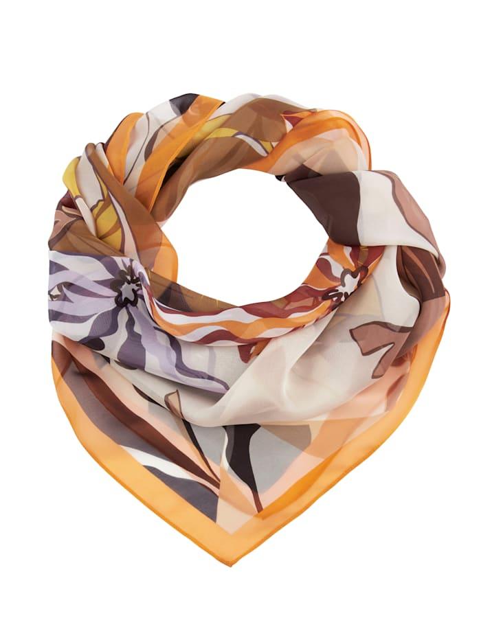 Fraas Foulard en pure soie, Écru/multicolore
